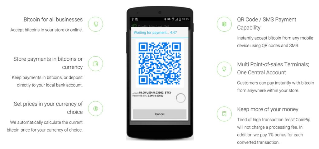 Coinpip accept bitcoin