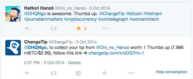 changetip twitter