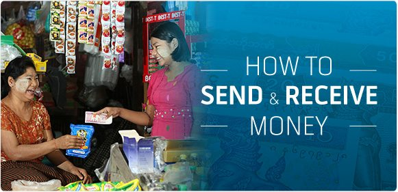 how to send and receive money in mynamar