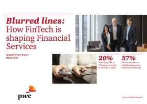 PwC global fintech report survey march 2016