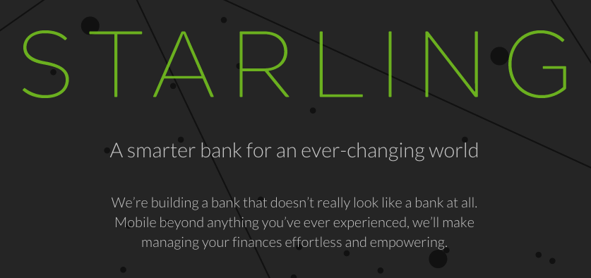 Starling Bank challenger bank