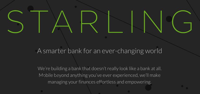 Starling Bank challenger bank
