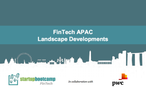 Fintech APAC landscape report pwc startupbootcamp