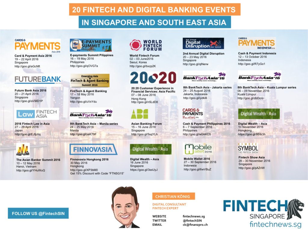 Fintech Events April December 2016
