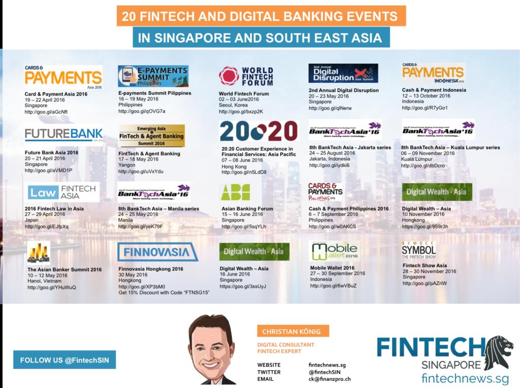 Fintech Events April December 2016