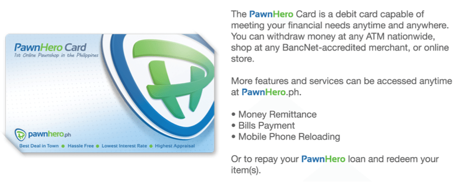 PawnHero Debit Card