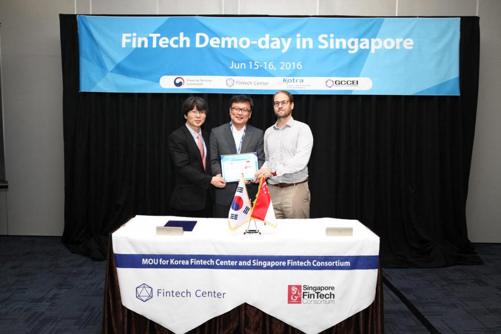 Fintech Center of Korea MOU Singapore Fintech Consortium
