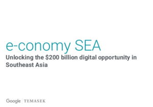 e-conomy SEA report e-commerce internet Google Temasek