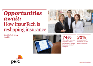 Insurtech report PwC June 2016