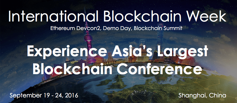 International Blockchain Week Shanghai 2016