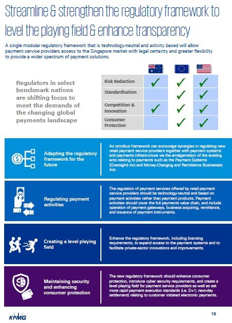 Singapore Payments Roadmap - Streamline and strengthen the regulatory framework