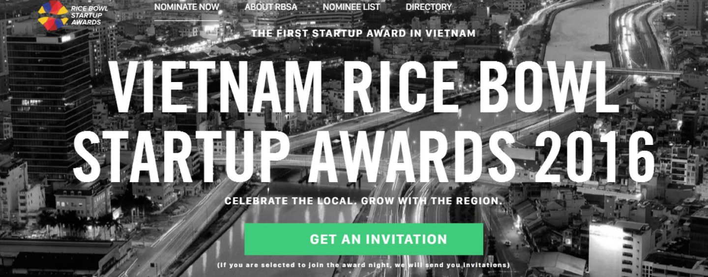 Winners of Vietnam Rice Bowl Startup Awards