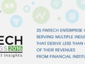 25 Fintech Enterprise Companies Serving Multiple Industries That Derive Less Than 1/3 of Their Revenues From Financial Institutions