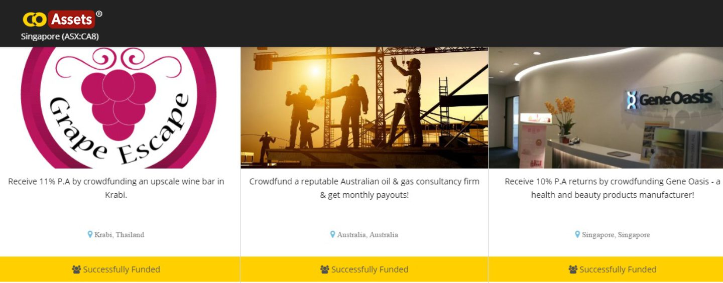 CoAssets – First Crowdfunding & Peer-to-peer Lending Company IPO in Australia