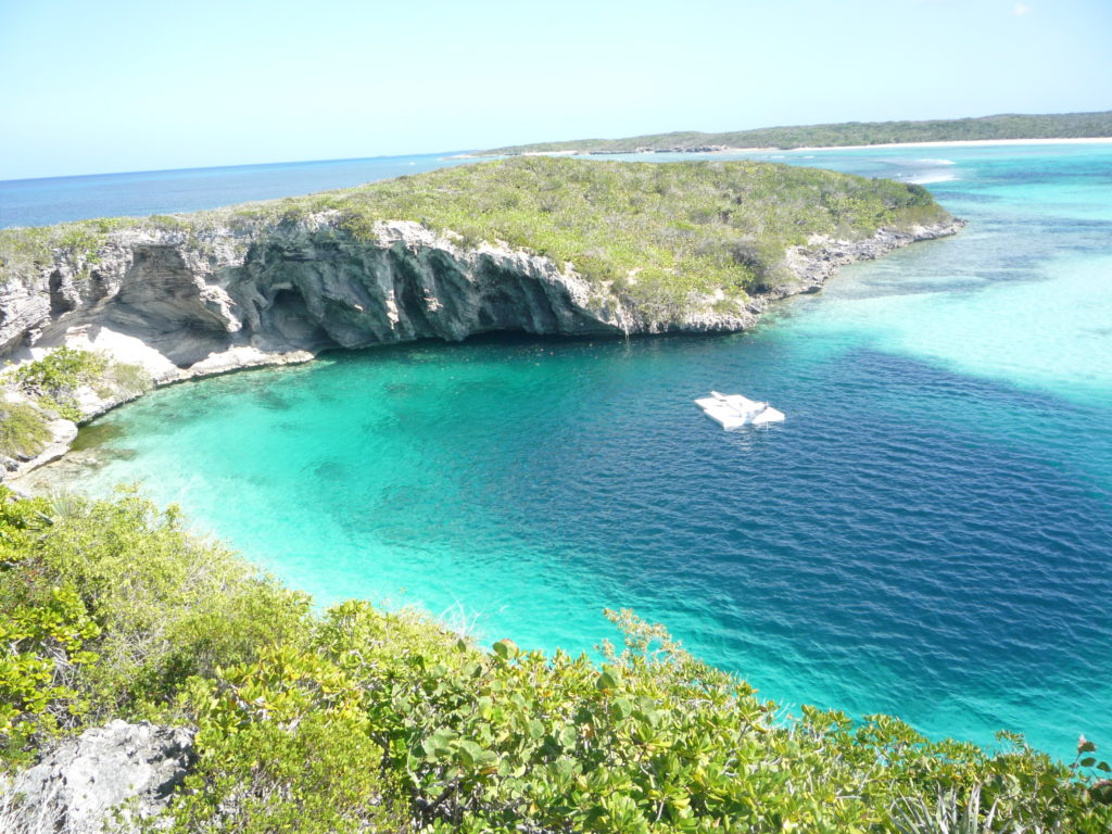 Dean Blue Hole Long Island Bahamas. From Wikipedia