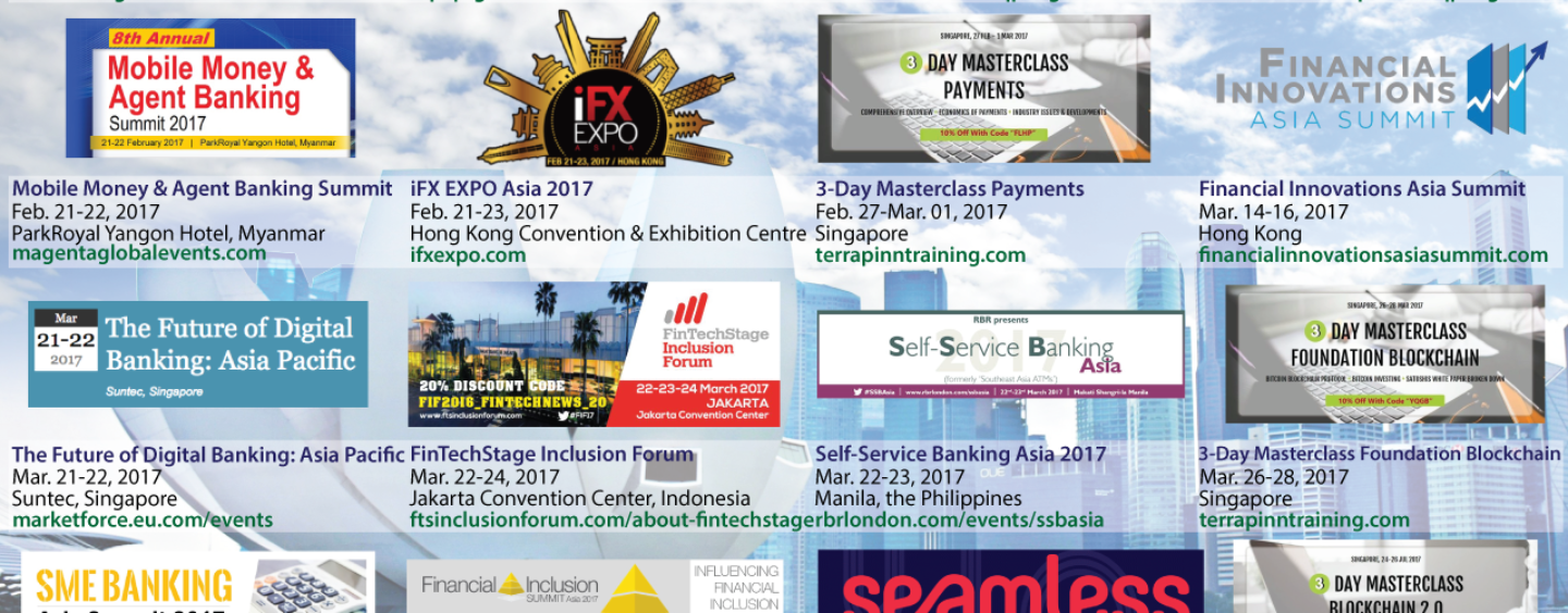 17 Interesting Upcoming Digital Finance and Fintech Events in Asia