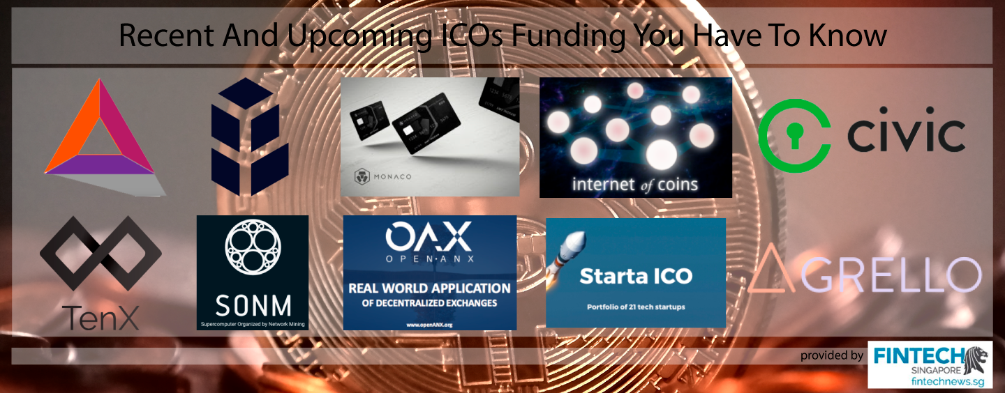 Recent And Upcoming ICOs Funding You Have To Know