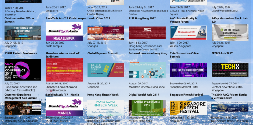 Top 26 Upcoming Fintech and Digital Finance Events in Asia