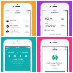 Azimo mobile app