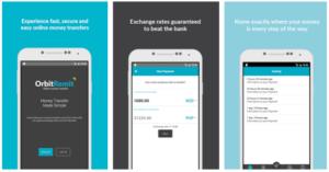OrbitRemit mobile app