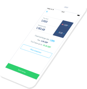 TransferWise mobile app
