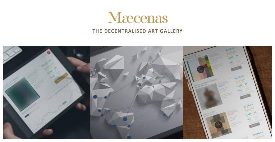 Maecenas blockchain art investing