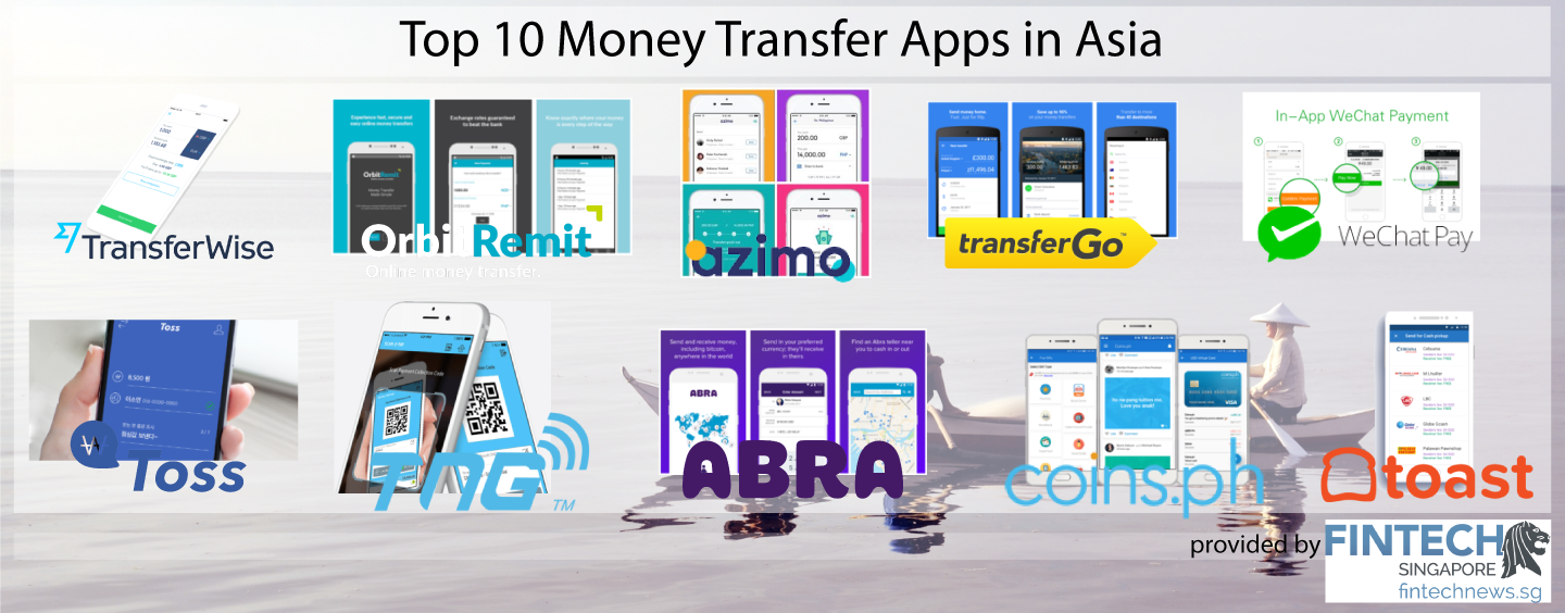 Top 10 Money Transfer Apps In Asia Fintech Singapore Is Wiring Safe