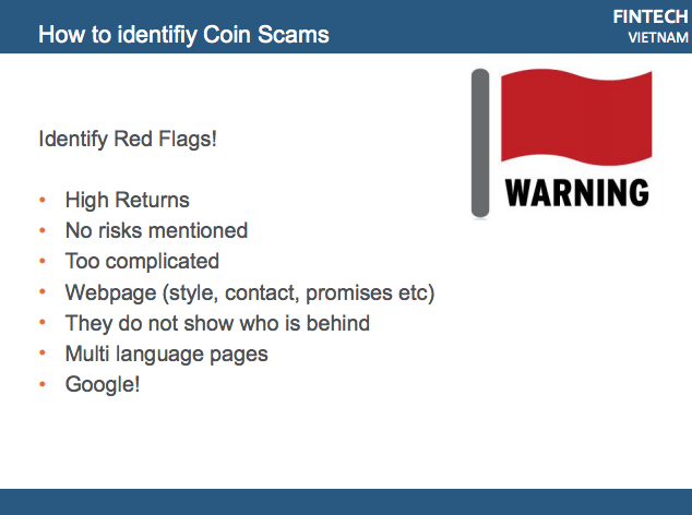 ICO meetup scams red flags