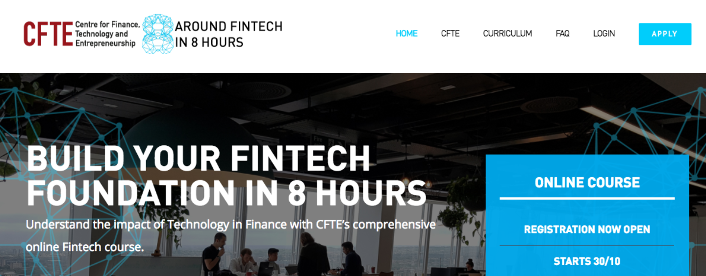 Fintech Experts Share Insights, Knowledge In New 8-Hour Fintech Online Course