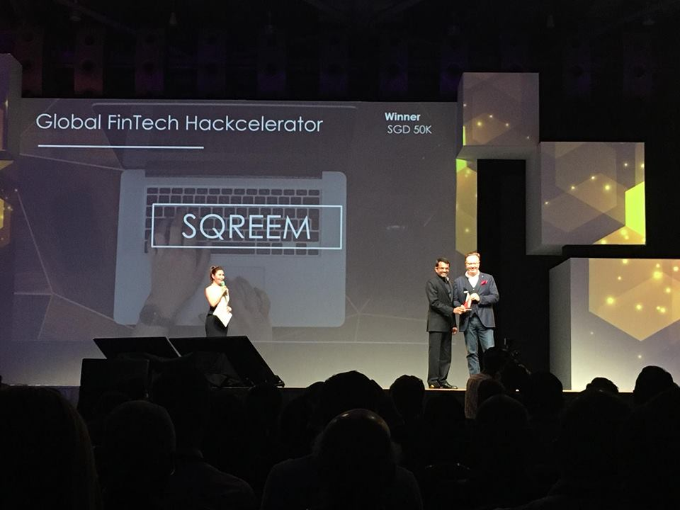 Global FinTech Hackcelerator Winner -SQREEM