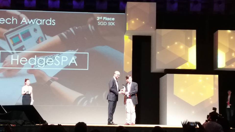 Mas Fintech Award Singapore SME Winner - HedgeSpa