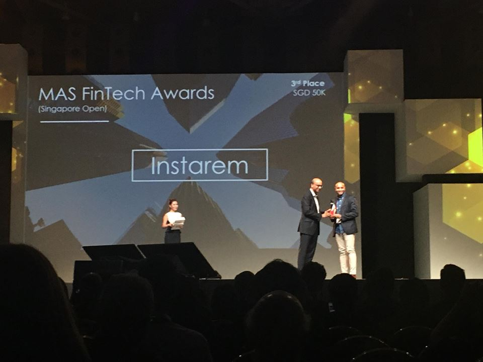 Mas Fintech Award Singapore Open Winner - Instarem