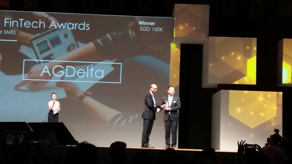Mas Fintech Award Singapore SME Winner - AG Delta