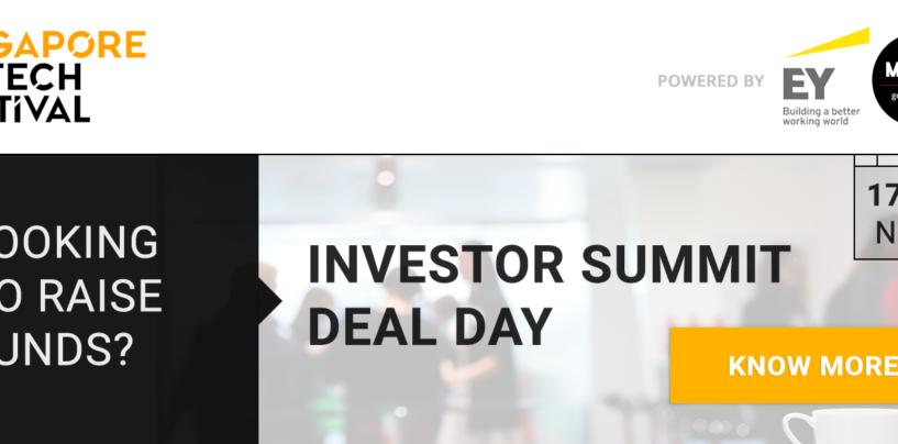 2 Billion of Capital available for FinTech Startups through Singapore FinTech Festival Investor Summit