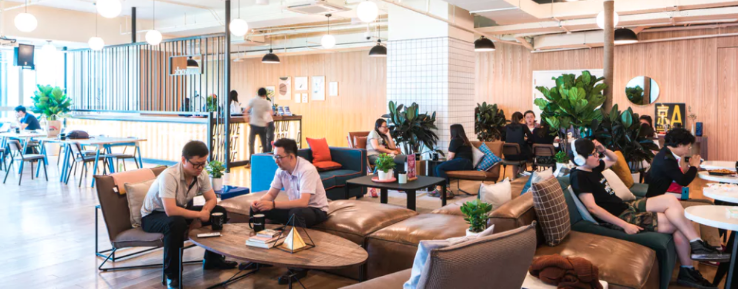 WeWork unveiled its Singapore location / 2 Fintech Startups join