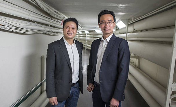 Funding Societies Co-Founders Reynold Wijaya and Kelvin Teo