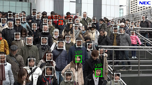 NEC's video Face Recognition technology