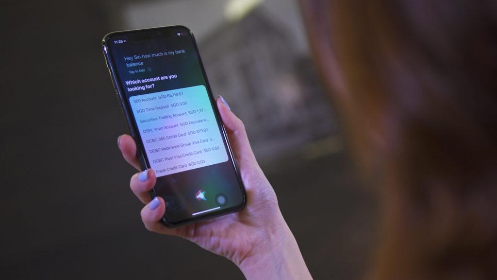 OCBC Voice Banking  - OCBC Voice Banking 3 1024x576 - OCBC Bank Singapore to Launch Siri Voice-Powered Conversational Banking