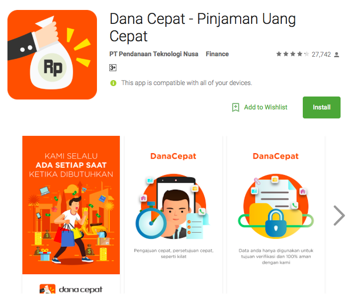 Fintech Loan Indonesia - Dana Cepat  - Payday lenders Indonesia DanaCepat - Instant Personal Loan Fintech Apps are Mushrooming in Indonesia