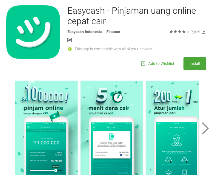 Fintech Loan Indonesia - EasyCash