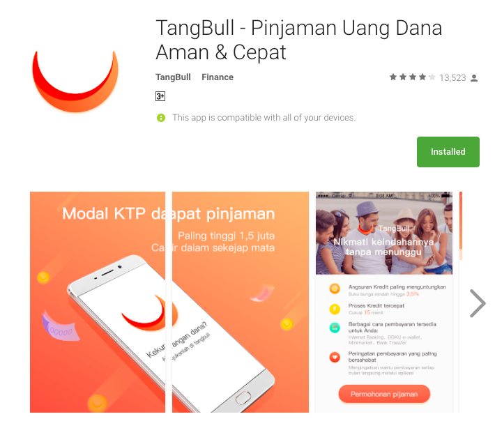 Fintech Loan Indonesia - TangBull
