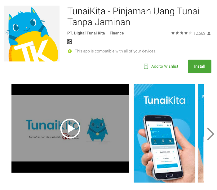 Fintech Loan Indonesia - TunaiKita