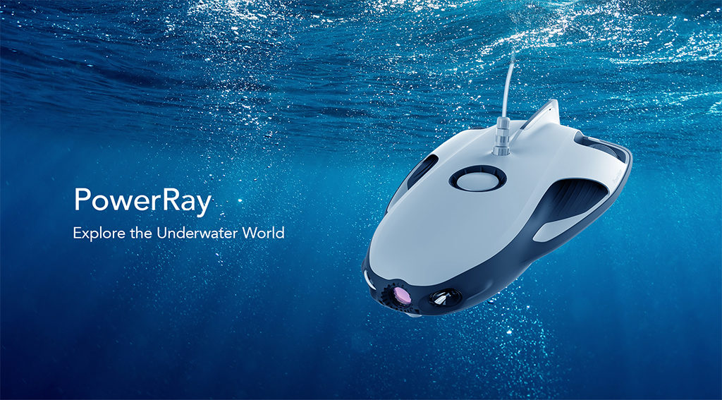 Powerray World S First Underwater Drone Launched In