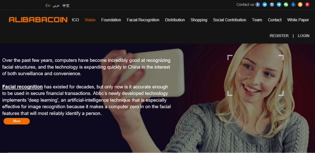 Alibaba Facial Recognition