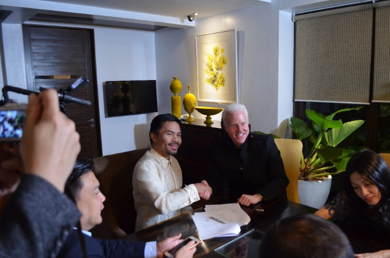 Manny Pacquiao with Steve Askew (Executive President of GCOX)jpg
