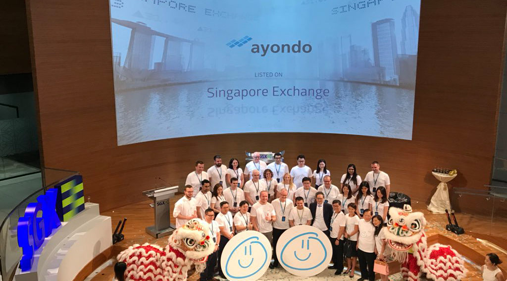 ayondo Celebrates First FinTech Company to List in Singapore