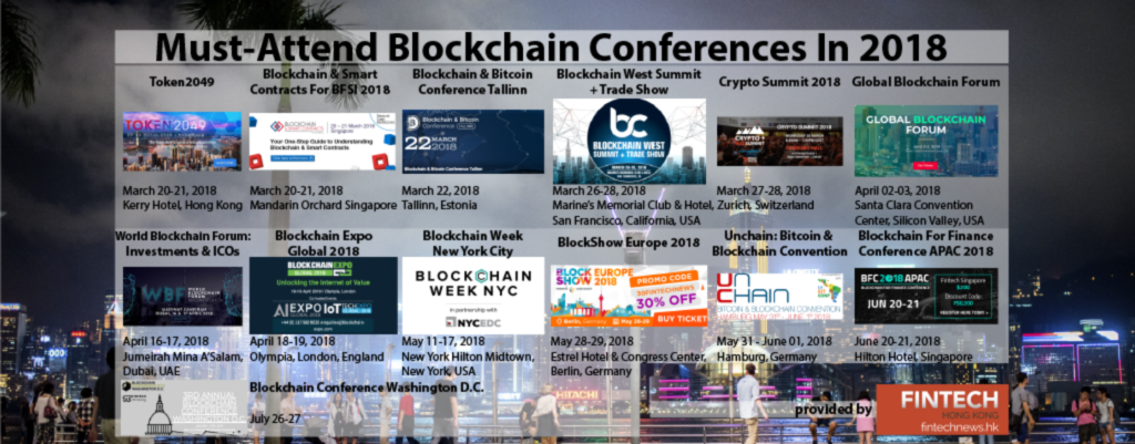 13 Must-Attend Blockchain Conferences In 2018  - 13 Must Attend Blockchain Conferences In 2018 1024x401 - Top Fintech Vietnam News from March 2018