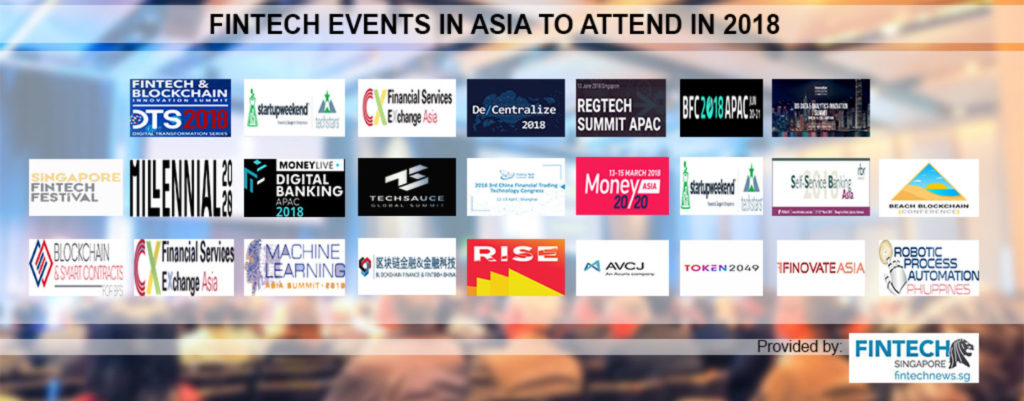Fintech Events in Asia to Attend in 2018-