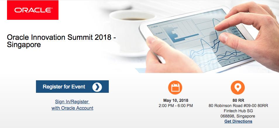 Oracle Innovation Summit 2018 - Singapore