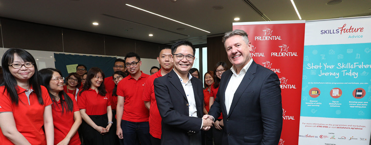 SkillsFuture Singapore to train Prudential's employees in Future Skillsets